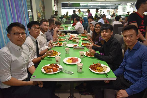 ASA Interns Enjoying Food