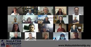 twenty people looking at the webcam