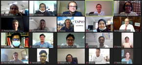 group of people on during webinar